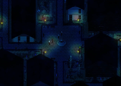 Gameplay M.E.A.T. ulica Washagami nocą