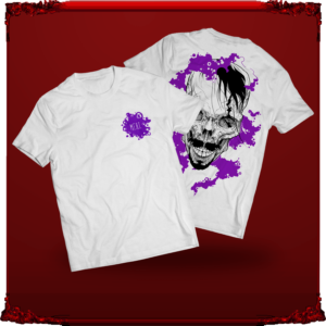 biały t-shirt M.E.A.T. z nadrukiem sir Culligan